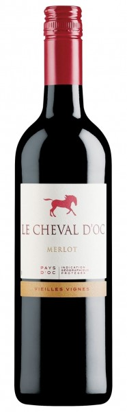 Cheval d'Oc, Merlot, Vin de Pays d'Oc, 2019